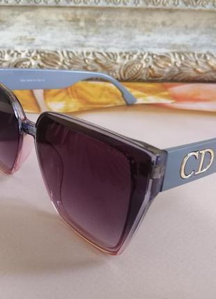 Эксклюзивные брендовые солнцезащитные женские очки двухцветная линза