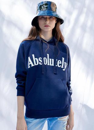 Новое худи на флисе женская толстовка с капюшоном в стиле zara reserved