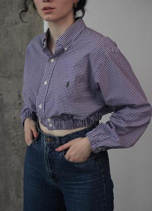 Кроп рубашка ralph lauren polo