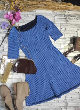 Платье миди трикотажное синее coltex retail group