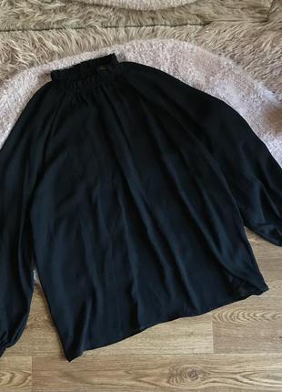 Чёрная свободная блуза(46р)