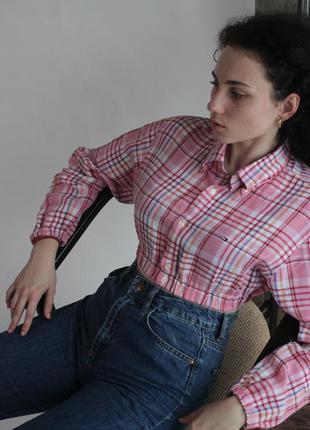 Укороченная блуза рубашка