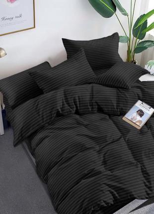 Комплект постельного белья. черный в полоску. бязь люкс. есть размеры