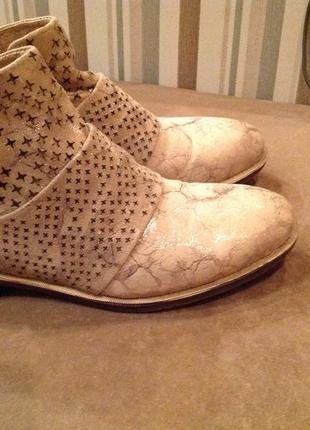 Мягонькие, замшевые турецкие  ботинки, р. 36,5 (37)