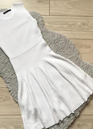 Белое платье karen millen из плотной вискозы трикотажное рубчик
