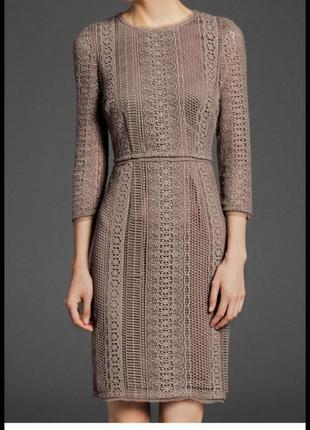Кружевное гипюровое ажурное платье massimo dutti футляр база