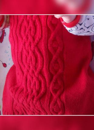 Вязаное платье туника next
