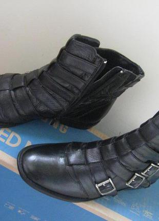 Стильные женские кожаные деми ботинки на чуть широкую ногу, р.40 /26,3с