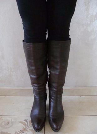 Prada женские кожаные сапоги