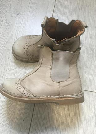 Кожаные ботинки для девочки демисезонные