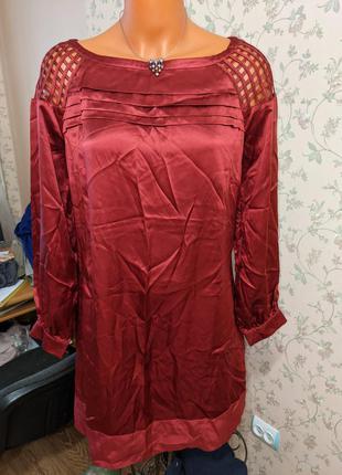 Блуза -платье из шелка