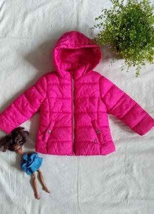 Теплая курточка на синтепоне на флисе бренда германии palomino uk 2 eur  92