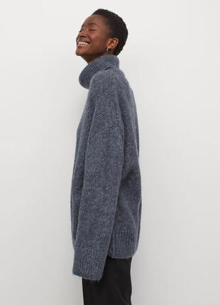H&m свитер под горло кофта вязанная объемный оверсайз