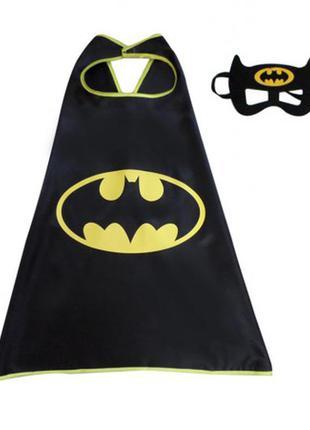 Детский маскарадный костюм бэтмен плащ и маска бэтмена+подарок
