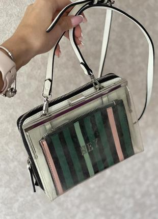 Zara біло-прозора сумочка