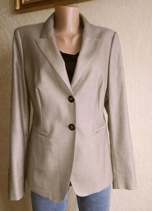 Роскошный фирменный пиджак жакет, шерсть и шёлк, новый, р.40-42