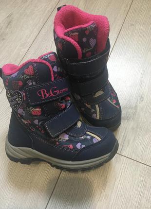 Зимние ботиночки b&g для девочки