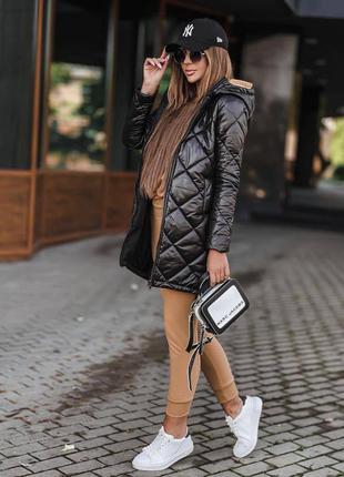 Женская стеганая куртка на силиконе 150