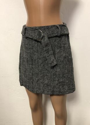 Женская плотная демисезонная вязанная /шерстяная юбка  primark