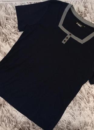 Женская футболка first avenue blue, женская футболка с квадратным вырезом горловины