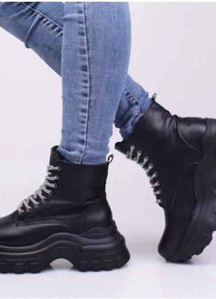 Ботинки женские демисезонные (335039) / 100798