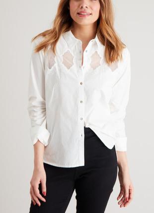 Белая стильная рубашка,сорочка,блуза хлопок tu (zara,cos)