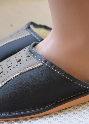 Кожаные тапочки тапки польша р.42 27 см