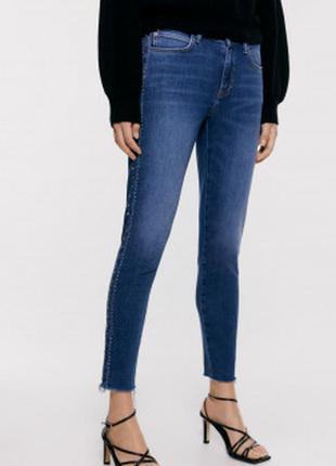 Синие джинсы скинни zara p. s