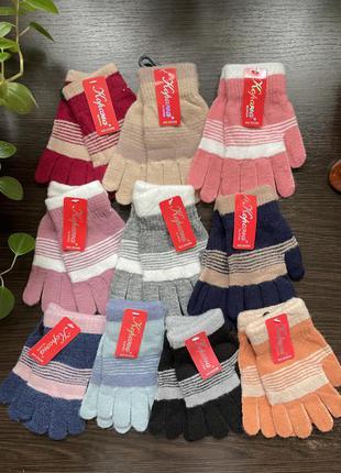 Перчатки варежки рукавицы для девочек