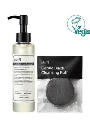 Деликатное гидрофильное масло klairs gentle black fresh cleansing oil