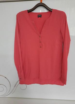Блуза only рубашка туника с длинным рукавом !
