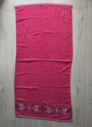 Полотенце, розовое полотенце, банное полотенце хлопок.