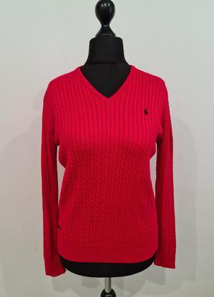 Красный свитер polo ralph lauren