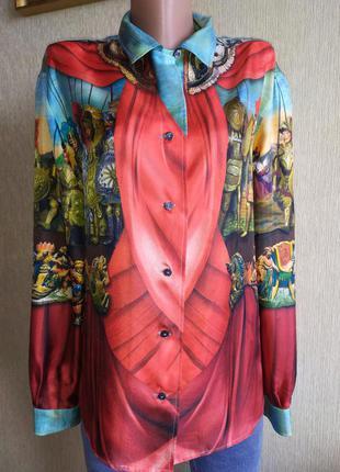 Нереальной красоты шёлковая блуза, сицилийская коллекция, р.38
