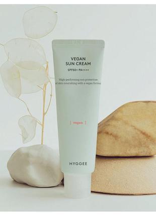 Hyggee vegan sun cream веганский солнцезащитный крем