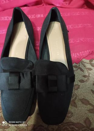 Zara trafaluc лёгкие изящные комфортные практичные туфельки р.37 стелька 24си