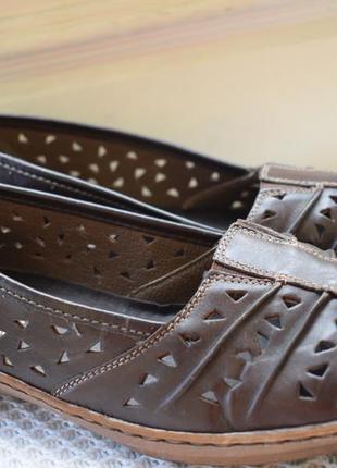 Кожаные туфли мокасины слипоны rieker р.41 26,5 см