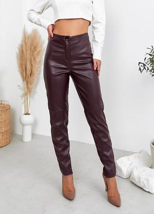 Женские брюки лосины из эко кожи