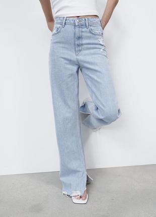 Джинси zara straight fit  розмір 34, оригінал! нова колекція