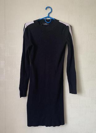 Платье в рубчик с лампасами bershka