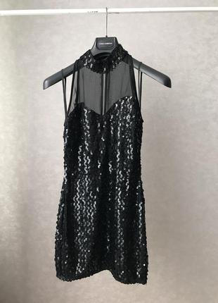 Платье вечернее нарядное пайетка р.m