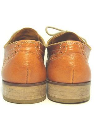 Женские кожаные туфли оксфорды р. 39
