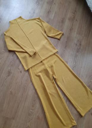 Тёплый трикотажный костюм палаццо
