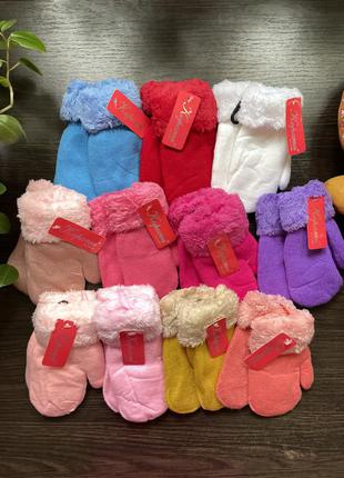 Рукавицы варежки перчатки для девочек