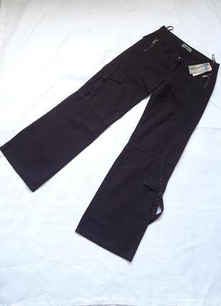 Коричневые штаны,карго,,брюки, ,карманы,котон