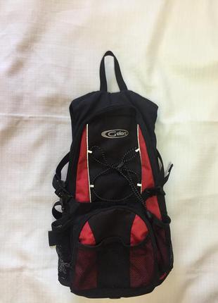 Рюкзак gelert велосипедный, тактический городской, черный с красным