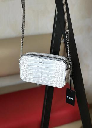 Сумка женская кросс-боди dkny оригинал bryant leather camera crossboddy