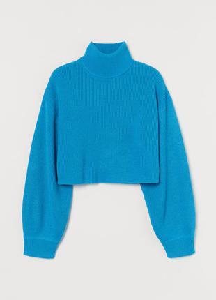 Новый кроп джемпер, свитер h&m, укороченный. размер s