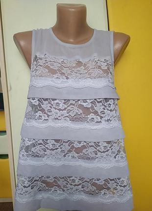 Блуза со вставками гипюра
