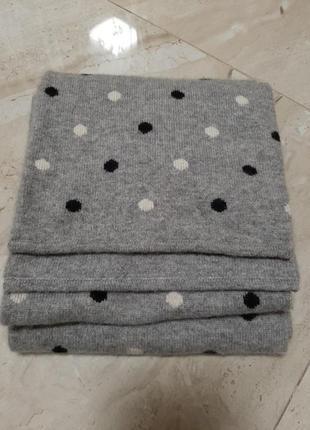 Двухслойный  шарф из кашемира и шёлка